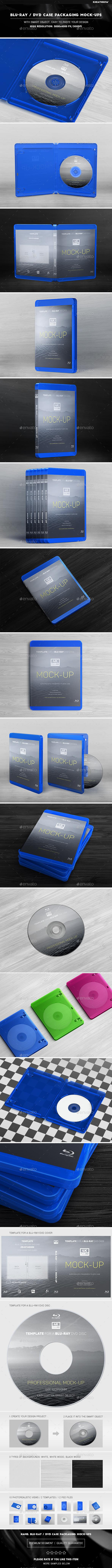Blu-ray / DVD Case Packaging Mock-Ups - Discs Packaging