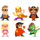 Children Dressed in Superheroes Costumes - GraphicRiver Item for Sale