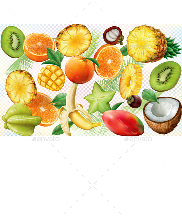 Fruits Background - Food Objects