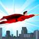 Super Hero Flying Over the City - GraphicRiver Item for Sale