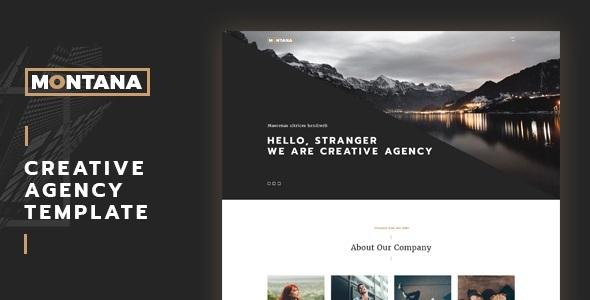 Montana – Fully Responsive One Page Portfolio