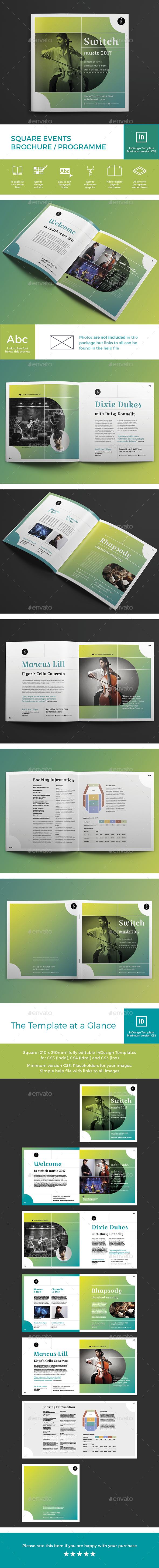 Square Events Brochure / Programme - Brochures Print Templates