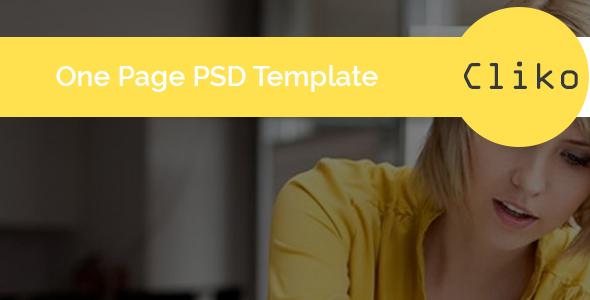 Cliko – One Page Portfolio PSD Template