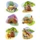 Set of Mini Compositions on Safari Theme
