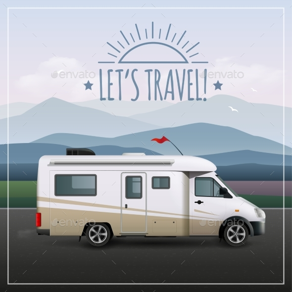 Let's Travel Poster - Travel Conceptual