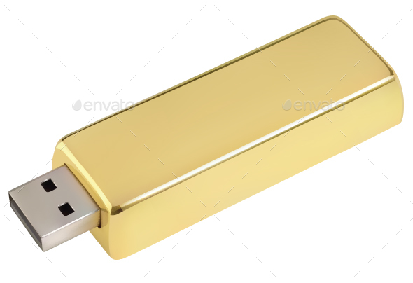 Gold USB Drive - Concepts Business