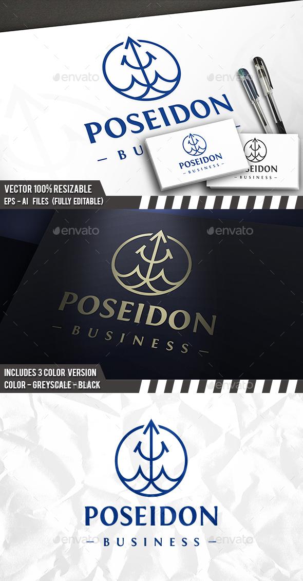 Poseidon Drop Logo - Company Logo Templates