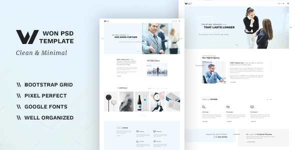 WON - Clean Multipurpose PSD - Business Corporate