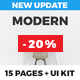Modern - Multipurpose Landing Page Pack & UI Kit - ThemeForest Item for Sale