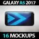SmartPhone Galaxy A5 2017 App & Skin MockUp
