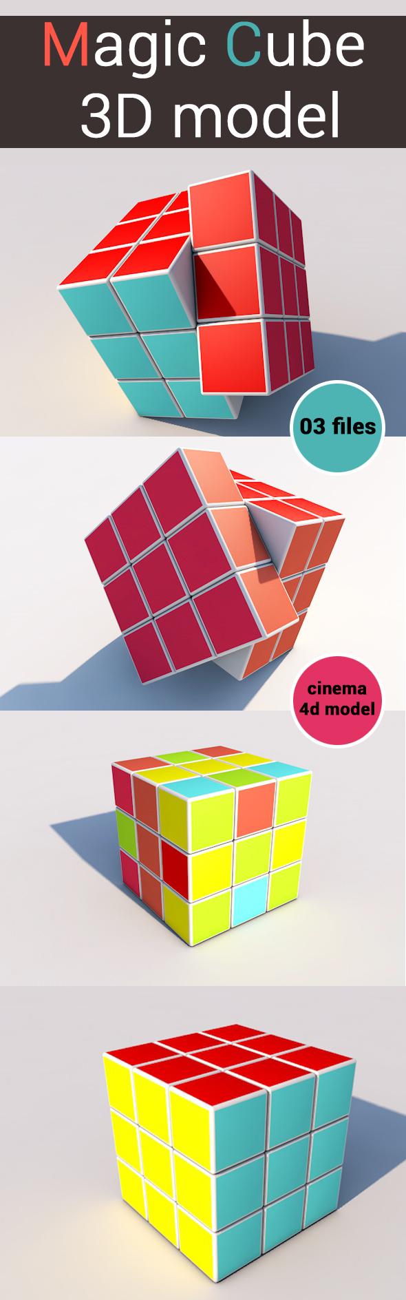 Magic Cube-3D model- - 3DOcean Item for Sale