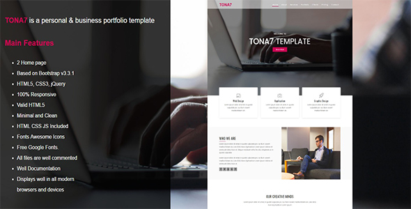 Tona7 –  Business Portfolio Template