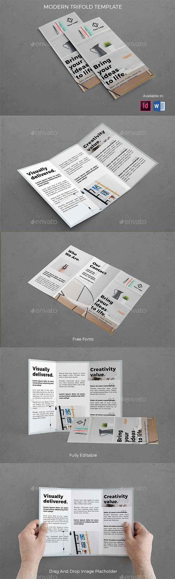 Modern Architecture Trifold - Brochures Print Templates