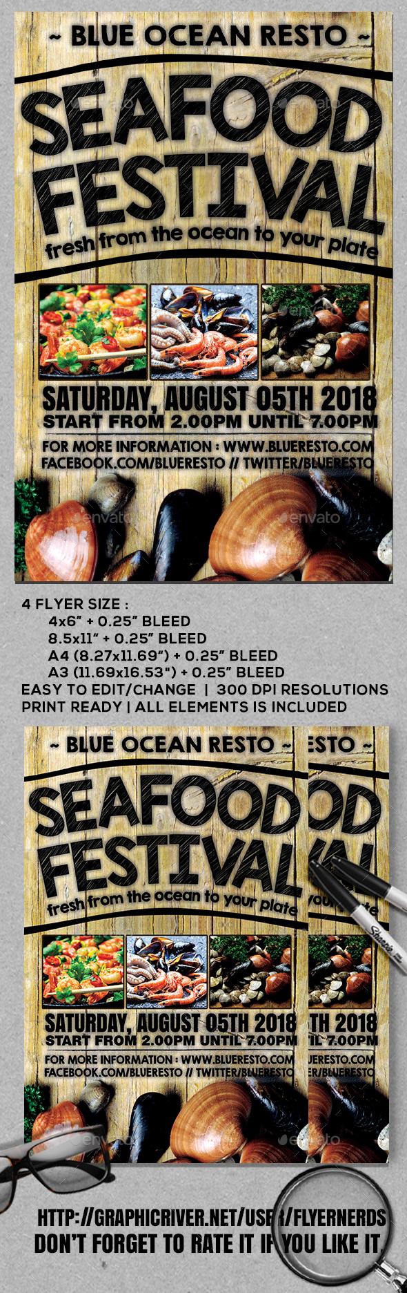 Seafood Restaurant Flyer - Restaurant Flyers