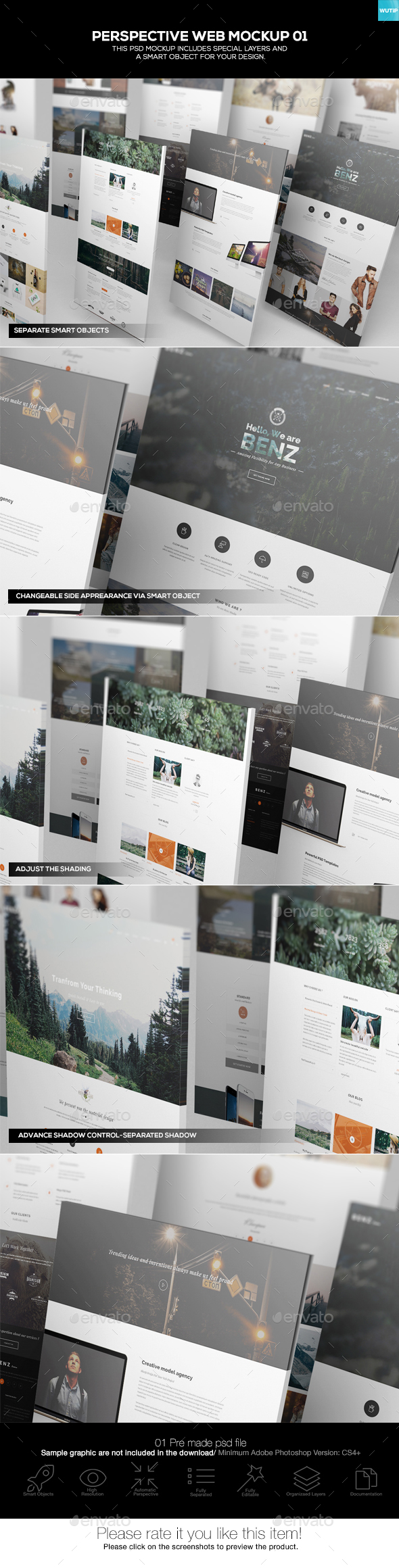 Perspective Web Mockup 01 - Website Displays