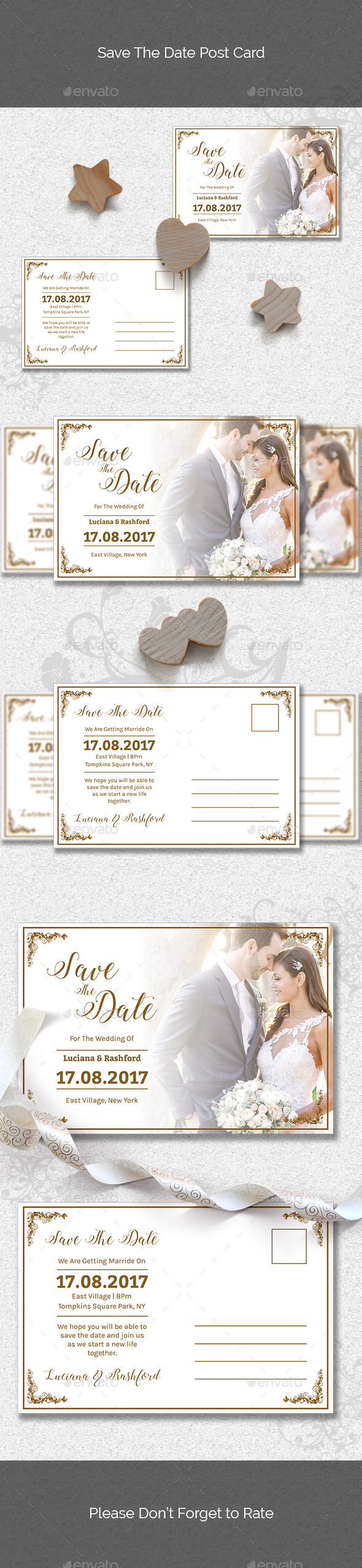 Save The Date Post Card - Cards & Invites Print Templates