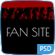 FanSite - Rock Music Media Photoshop