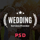 Wedding & Wedding Planner PSD Template Nulled