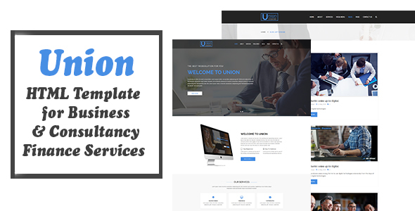 Union – HTML Template For Business Consultancy and Finance Services