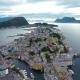 City of Alesund Norway Aerial Footage - VideoHive Item for Sale