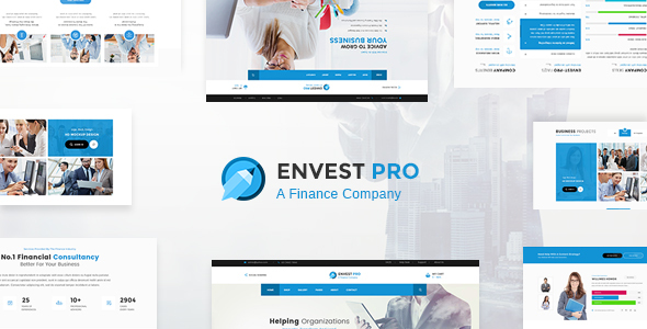 Envest Pro – Business Multipurpose PSD Template