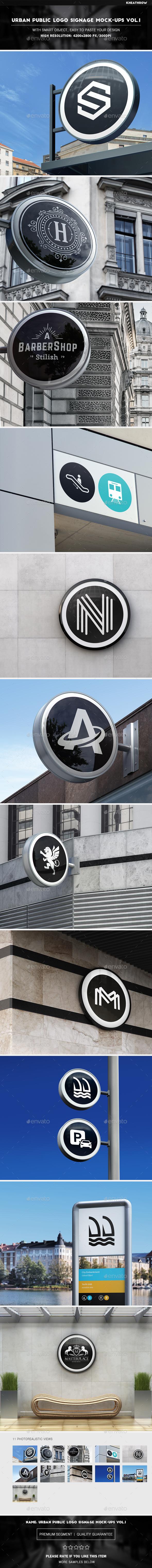 Urban Public Logo Signage Mock-Ups Vol.1 - Logo Product Mock-Ups