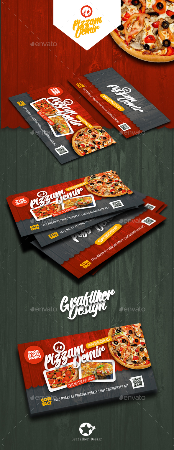 Restaurant Business Card Templates - Corporate Business Cards