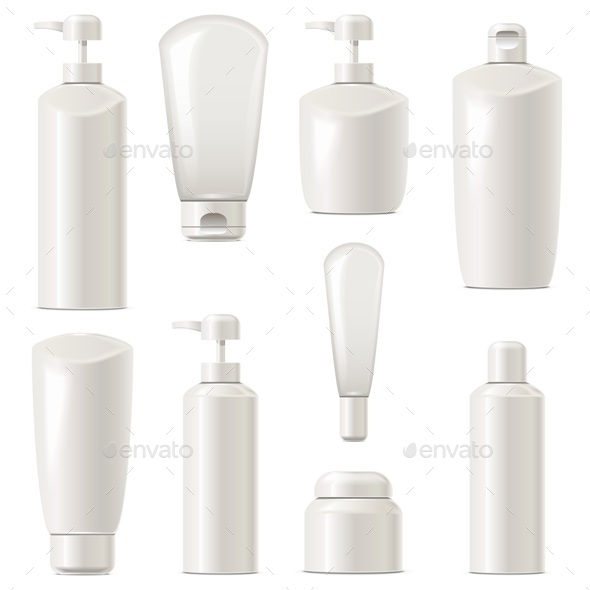 Vector Cosmetic Packaging Icons Set 7 - Health/Medicine Conceptual