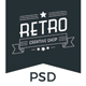Retro Shop Creative PSD Template