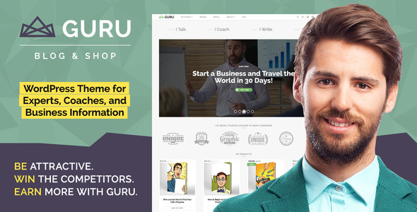 GuruBlog – Responsive Blog & Shop WordPress Theme for Experts