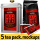 5 Tea Packaging Mockups