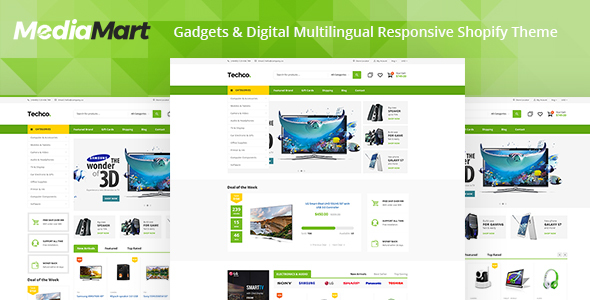 Image of MediaMart - Electronic, Computer, Gadgets & Digital Multilingual Responsive Shopify Theme
