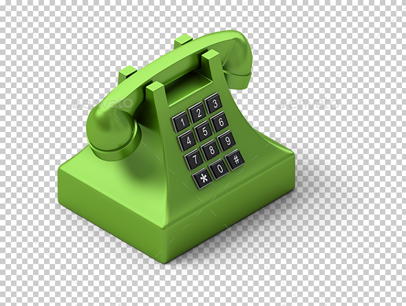 Isometric Telephone - Objects 3D Renders