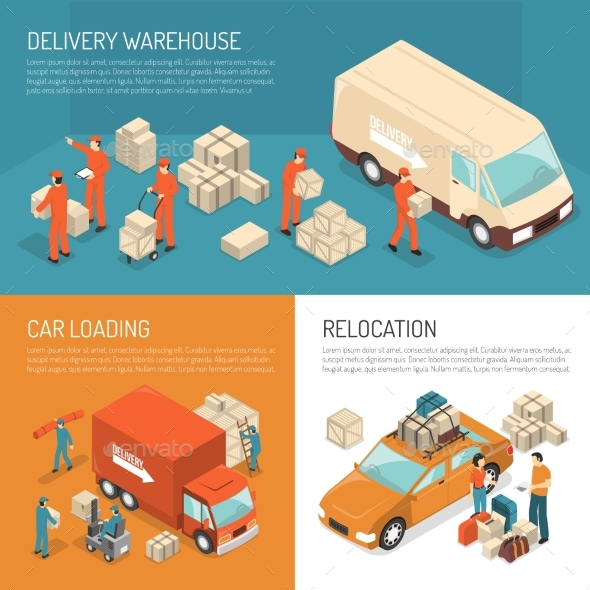 Delivery Moving Design Concept - Conceptual Vectors
