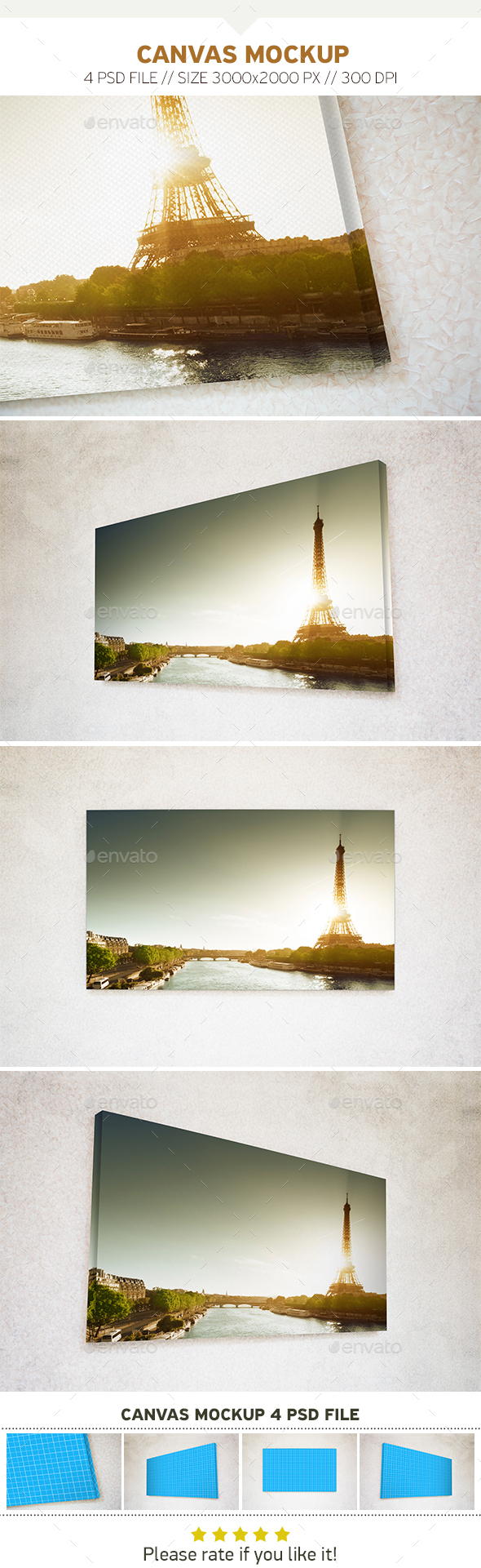 Canvas Mockups - Product Mock-Ups Graphics