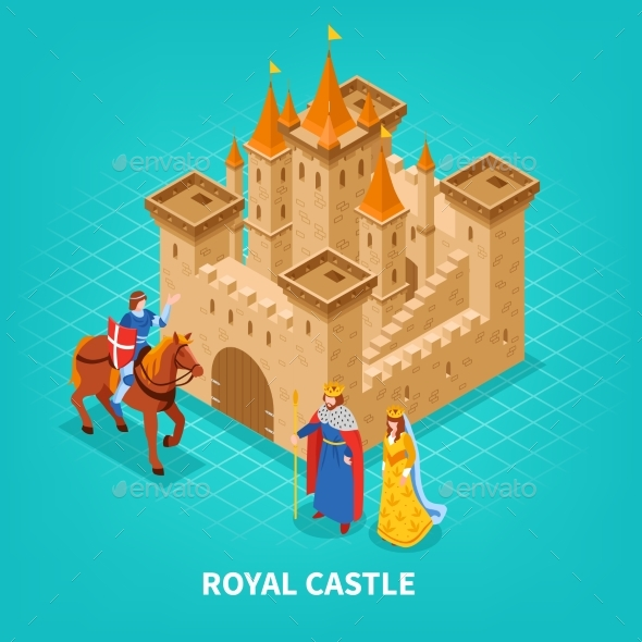 Royal Castle Isometric Composition - Buildings Objects