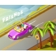 Friends Riding Car Isometric Travel Poster