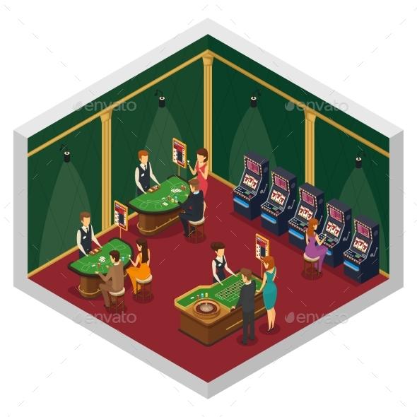 Casino Isometric Interior Composition - Miscellaneous Conceptual