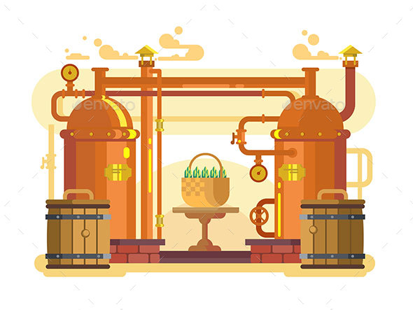 Brewery Beer Design Flat - Miscellaneous Conceptual