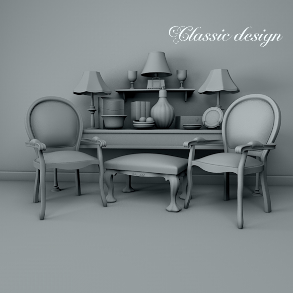Classic design. - 3DOcean Item for Sale