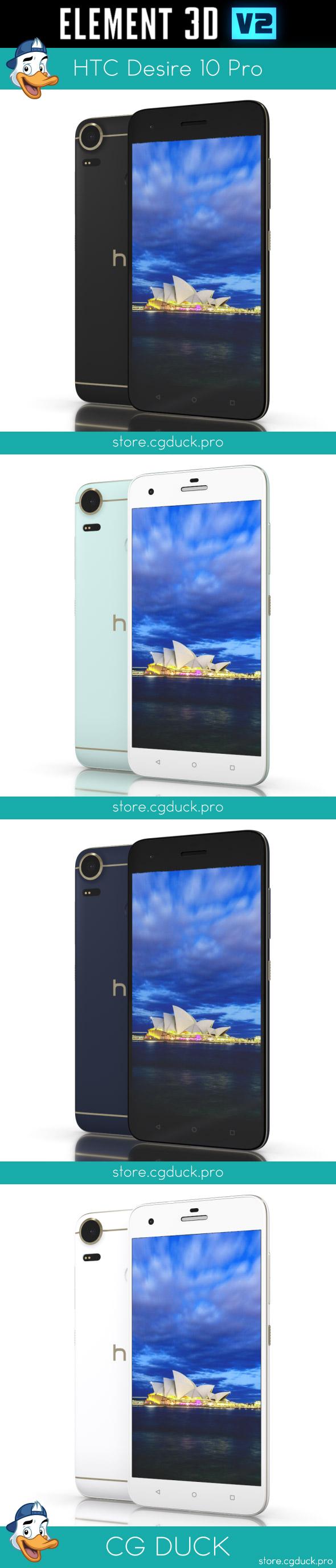 HTC Desire 10 Pro for Element 3D - 3DOcean Item for Sale