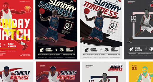 Basketball Match Flyers Templates