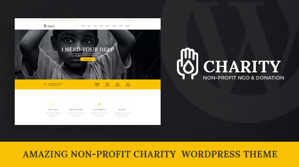 Charity - Nonprofit WordPress Theme by DesignsVilla [19176366]