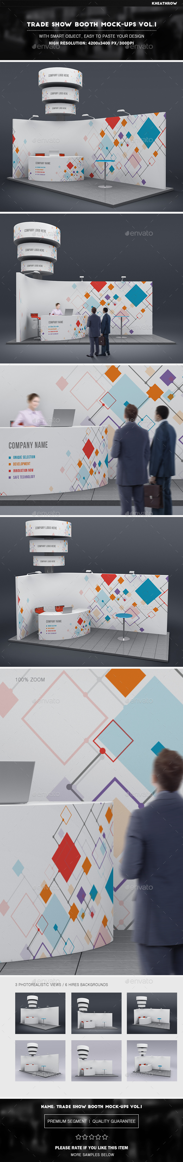 Trade Show Booth Mock-Ups Vol.1 - Signage Print