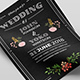 Chalkboard Style Wedding Invitation - GraphicRiver Item for Sale