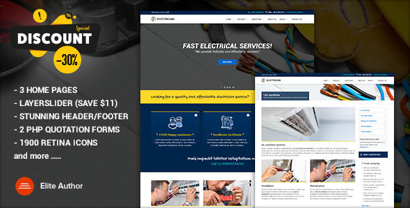 ELECTRICIAN – Electrician & Repairing template