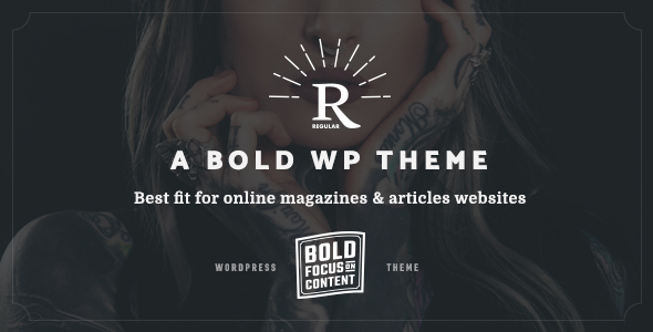 Regular – Bold Content Blog & Online Magazine WordPress Theme