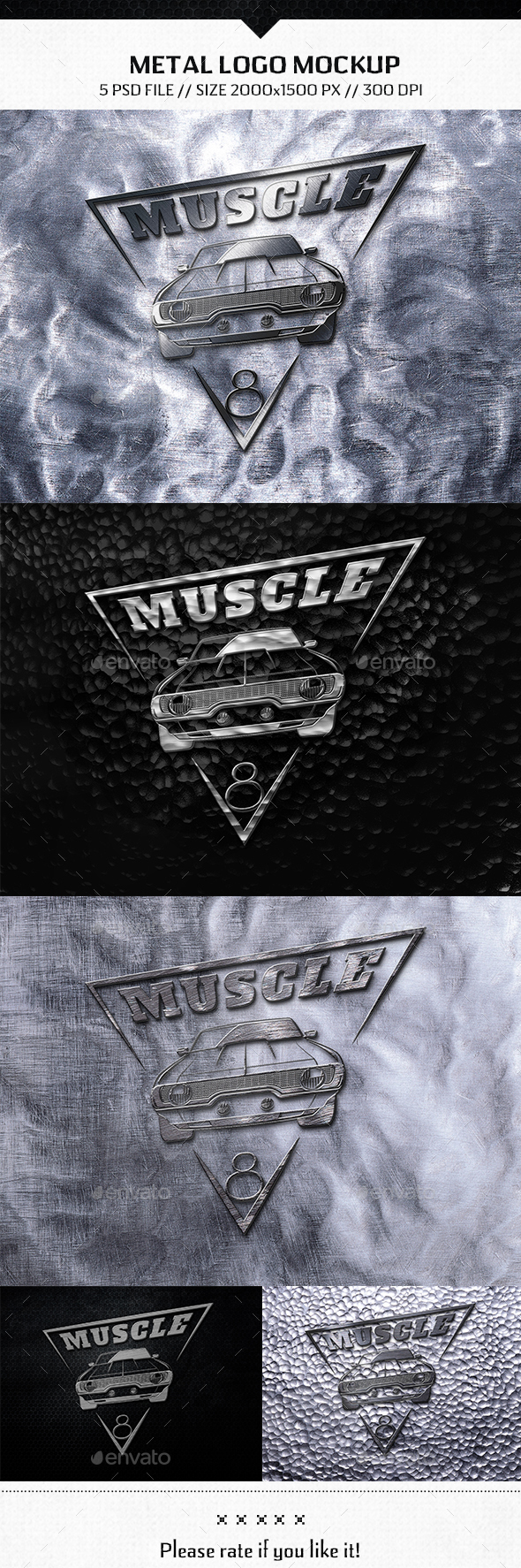 Metal Logo Mockup - Product Mock-Ups Graphics
