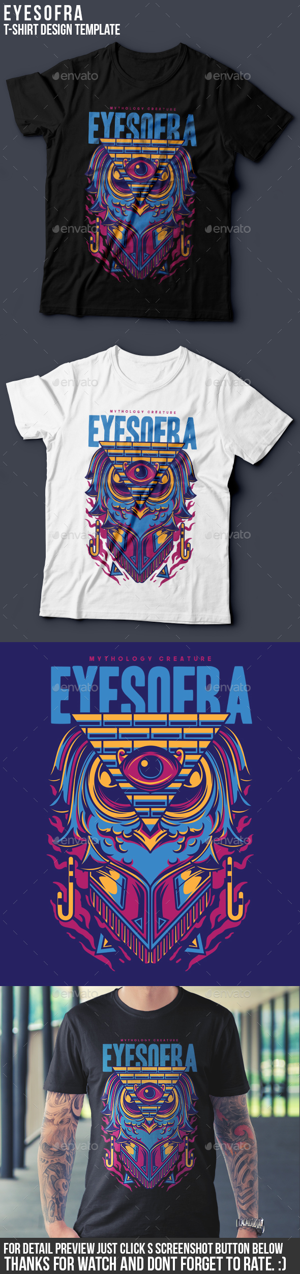 Eyes of Ra T-Shirt Design - Clean Designs