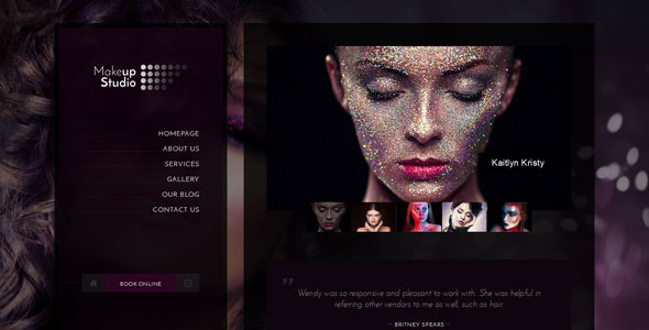 Makeup - Barbershop, Make-up, Spa, Beauty, Manicure HTML Template - Health & Beauty Retail